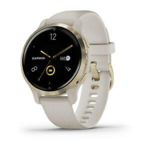 Garmin GPS Smartwatch Venu 2S Light Sand with Light Gold Hardware 010-02429-01