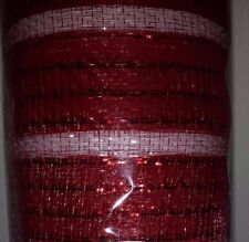 """Poly Deco 21"""" Wide Mesh Christmas Ribbon Roll 30 Total Feet! Choose Color"""