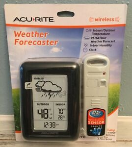 ACURITE DIGITAL WIRELESS INDOOR / OUTDOOR WEATHER FORECASTER STATION