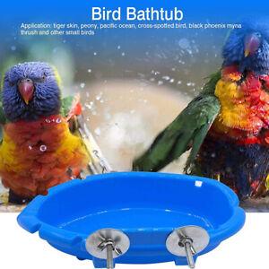 1Pc Bird Bath for Parrots House Bath Bird Cage for Parakeet Pets Accessories US