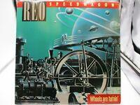 "REO Speedwagon Wheels Are Turning' 12"" LP Epic QE 39593 1984 Pop Rock NM c VG+"