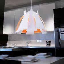 Moderne Esszimmer Hängeleuchte rund Ø55cm Tress Weiß Orange