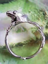 Original Trollbeads ❤ Anello Albero Rana Tg. 56 Tree Frog Sterling Argento Nuovo! OVP!