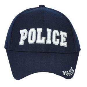 Police Baseball Cap Hat Law Enforcement Navy Blue Adjustable Mens One Size