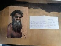 Aboriginal Postcard Depicting Kapatina An Aboriginal Elder From Pijandjara Tribe