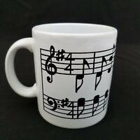 Vintage Waechtersbach Ceramic Music Notes Mug Made West Germany