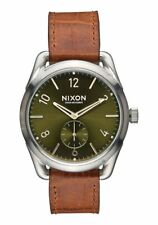NIXON THE C39 CHRONO CROC LEATHER 40 MM Watch A4591886 NEW!