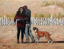 Original painting direct from Steve Sanderson, boxer dog, Northern Art