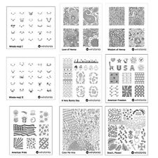 Winstonia Nail Art Stamp Image Plate Stencil Template Disc Polish Cute Manicure