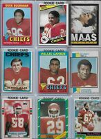 Kansas City Chiefs Vintage Lot of(30) Different w/ Rookies Lanier Podolak Thomas