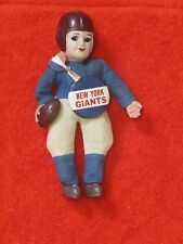 "1940's NEW YORK GIANTS NFL 8"" TALL CELLULOID DOLL AND PIN *RARE*"