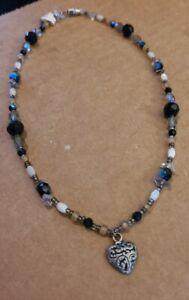 "Handmade Jewelry - Women's 16"" Necklace - Glass Beads, Quality Clasp - New GKN2"