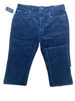 Mens Ralph Lauren Navy Blue Cord Chinos Stretch Classic Fit - 36W 38L RRP £145