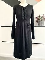 BODEN Black Jumper Dress Size 12 | SMART Occasion casual Winter Autumn