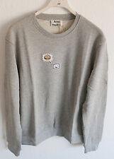New Acne Studios Casey Emoji Sweatshirt Crew Sweater Grey Melange Size S Small