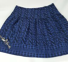 Madewell silk skyline skirt geometric stripe blue size 2 (M28)