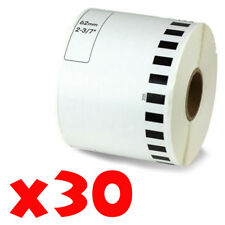 30 Roll 2-7/16 x 105ft 62mm DK-2205 Continuous Label Compatible Brother® QL-570