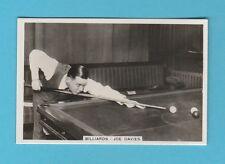 BILLIARDS  -  PATTREIOUEX  - BILLIARDS CARD  NO. 14  -  JOE  DAVIES  -  1935