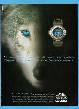 BELLEU999-PUBBLICITA'/ADVERTISING-1999- CASIO PRO TREK PRT-35V