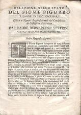 1767 – VESTRINI, RELAZIONE DELLO STATO DEL FIUME BIGURRO – CASTIGLION FIORENTINO