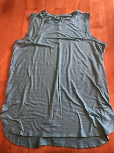 TEK GEAR ACTIVEWEAR TANK TOP SIZE LARGE Teal Blue With White Stripes NWOT