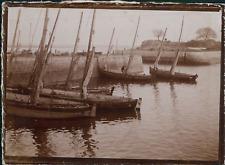 France, Voiliers à quai, ca.1900, Vintage citrate print Vintage citrate print