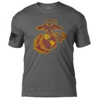 USMC EGA Distressed T-Shirt-7.62 Design Marine Corps Tee Shirt