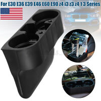 Black Front Drink Cup Holder For BMW 1 3 5 Series E30 E60 E90 Z3 Z4 Plastic USA