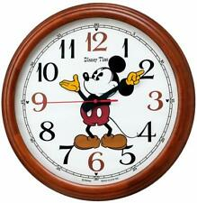Disney Mickey Mouse SEIKO analog Silver Wall Clock FS504S Quartz Dustproof Japan