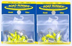 Original Classic Blakemore Road Runner Spinner Jig Head Lures 1/16 oz Chartreuse