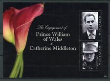 Guyana 2010 MNH Royal Engagement Prince William & Kate 2v S/S I Royalty Stamps
