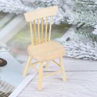 1/12 Dollhouse Miniature Furniture Wooden Chair High Chair Dollhouse Accesso_ci