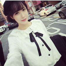 Brand New Japan Mori Style Peterpan Doll Collar Ruffle Shirt Blouse Top XS