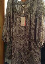 Monsoon Silk Scoop Neck 3/4 Sleeve Tops & Shirts for Women