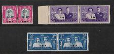1947 Royal Visit set 3 Pairs  Complete Mint Hinged