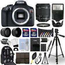Canon EOS Rebel T6 DSLR Camera + 18-55mm IS Lens + 24GB Multi Accessory Bundle