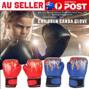 Children Kids Boxing Sparring Training Gloves MMA Kick Boxing Punching Gloves AU