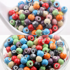 50Pcs Mixed Soild Ceramic Loose Spacer Porcelain Charms Beads Jewelry DIY 6mm