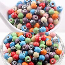 Wholesale 50Pcs Mixed Soild Ceramic Loose Spacer Porcelain Charms Beads DIY 6mm