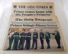 THE TIMES,THE DAILY TELEGRAPH NEWSPAPERS SEP 01 1997 THE DEATH OF PRINCESS DIANA