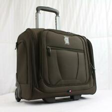 """DELSEY HELIUM 360 16"""" WHEELED CARRY ON UNDERSEAT TOTE SUITCASE MOCHA"""