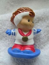 Rare Fisher Price Little People OLYMPIC GOLD WINNER SNOW BOARDER GIRL Medal USA