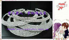 New Fashion 5Pcs 1-5Rows Rhinestone Bib Choker Necklaces