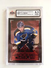 T.J Oshie 2008-09 Black Diamond Ruby Rookie #13/100 Card KSA Graded 8.5