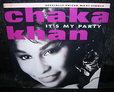 CHAKA KHAN It's My Party (1988 US Gold Foil Stamped Picture Cover Promo 12inch)
