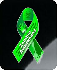 "1 - 4"" x 7"" Zombie Awareness Ribbon Bloody Hand Decal Sticker Response  1291"