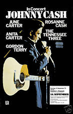 Johnny Cash in  Germany Concert Poster Circa 1975