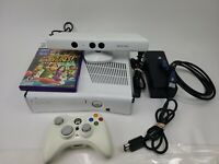 White 4GB Xbox 360 Slim Console Bundle with Kinect and Kinect Games