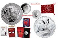 SPIDER-MAN Silver BU Coin & SPIDER-MAN Homecoming Silver Coin Set