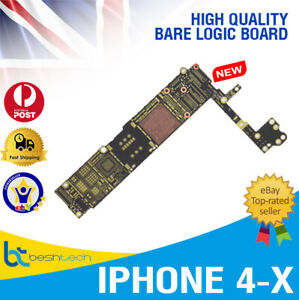 Brand New Bare Motherboard Logic Main Board For iPhone 4,4S,5,5C,5S,6,6S,7,7P- X